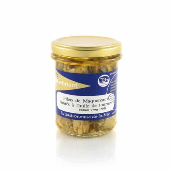 Filets de maquereaux fumés à l'huile de tournesol (Sans Sel Ajouté) Kerbriant