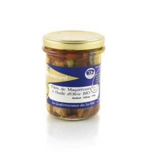 Filets de maquereaux à l'huile d'olive Biologique (Sans Sel Ajouté) Kerbriant