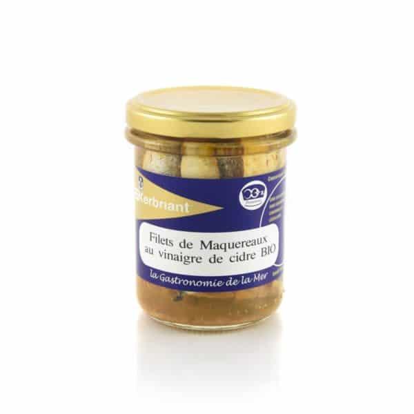 Filets de maquereaux au vinaigre de cidre Biologique Kerbriant