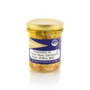 Parpelettes de Thon blanc Germon Huile d'Olive Bio Kerbriant