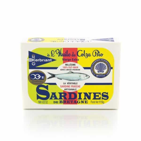 Sardines à l'huile de Colza Bio Kerbriant