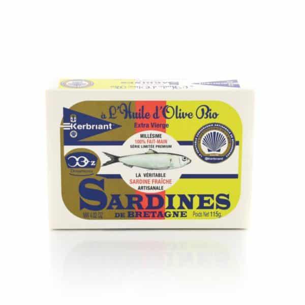 Sardines à l'huile d'Olive Bio Kerbriant