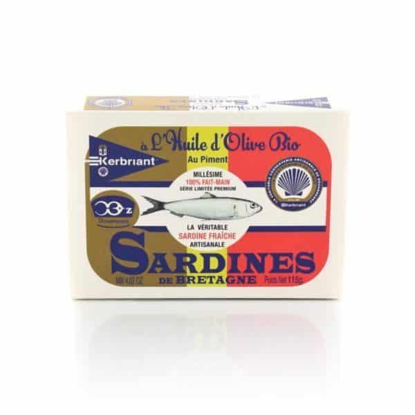 Sardines à l'huile d'Olive Bio au Piment Kerbriant