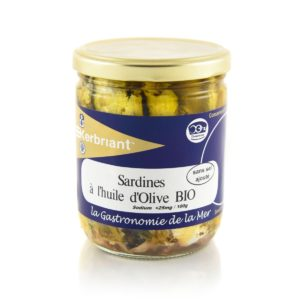 Sardines à l'huile d'olive bio sans sel ajouté