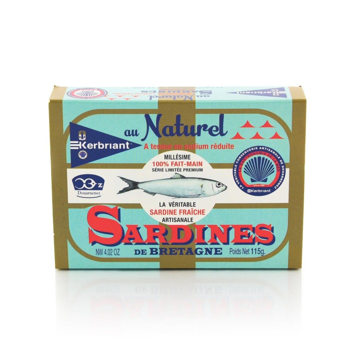Sardines au Naturel à teneur réduite en sodium Kerbriant